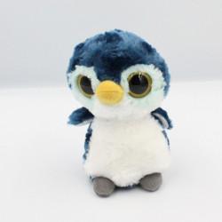 Doudou peluche pingouin bleu blanc YOOHOO