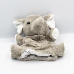 Doudou plat marionnette éléphant gris HISTOIRE D'OURS