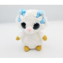 Doudou peluche tigre blanc bleu YOOHOO