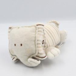 Doudou éléphant attache tétine beige NATURES PUREST