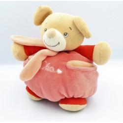 Doudou boule souris rose rouge Léa NOUNOURS