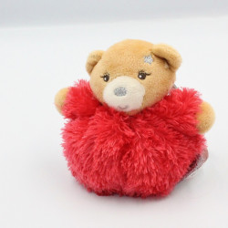 Mini doudou ours rouge Fur fourrure KALOO