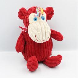 Doudou Bogos le singe rouge LES DEGLINGOS