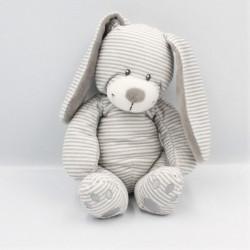 Doudou lapin blanc gris rayé SIMBA TOYS KIABI