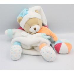Doudou et compagnie marionnette ours blanc bleu rose étoiles Unicef
