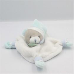 Doudou plat ours blanc bleu BABY NAT