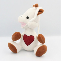 Doudou sophie la girafe coeur rouge VULLI
