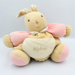 Doudou patapouf lapin beige rose KALOO