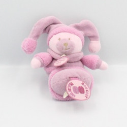 Doudou et compagnie hochet ours Douceur Macaron rose