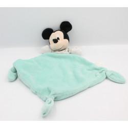 Doudou plat souris Mickey bleu rayé gris DISNEY