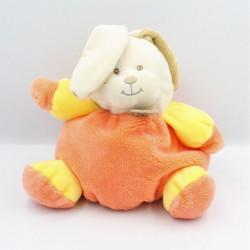 Doudou boule lapin orange jaune Bubble Gum BABY NAT