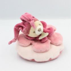 Doudou et compagnie ours rose col étoile carambole Petit Modéle