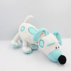 Doudou peluche chien Jollop blanc bleu Engie Benjy LANSAY