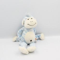 Doudou singe bleu blanc Monkeez GIPSY