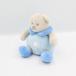 Doudou ours gris bleu étoile CMP