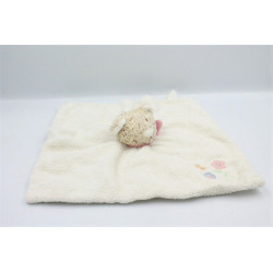 Doudou plat chat ours beige...