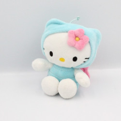 Doudou chat HELLO KITTY déguisé en papillon bleu SANRIO LICENSE