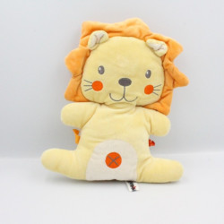 Doudou lion jaune orange NICOTOY