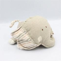Doudou éléphant beige rayé NATURES PUREST