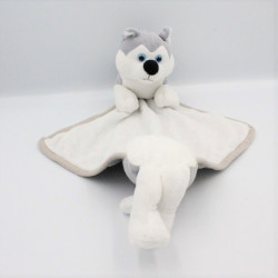 Doudou chien loup blanc gris IMPEXIT