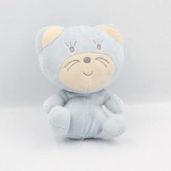 Doudou chat bleu NOUNOURS