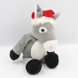 Doudou ane gris bonnet de Noël KINDER