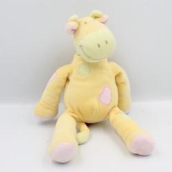 Doudou girafe jaune foulard vert TEX