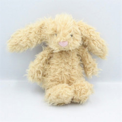 Doudou lapin beige nez rose JELLYCAT