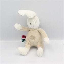 Petit Doudou lapin blanc beige Luc et Léa MOULIN ROTY