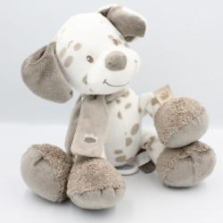 Doudou musical chien blanc beige Max Noa et Tom NATTOU