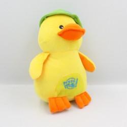 Doudou poussin canard jaune chapeau vert FIZZY