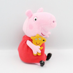Doudou cochon rose rouge PEPPA PIG