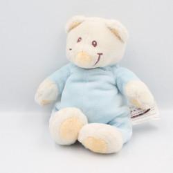Doudou ours bleu blanc KIMBALOO