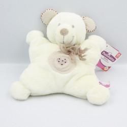 Doudou semi plat ours blanc beige Mon Coeur POMMETTE
