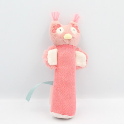 Doudou baton chouette rose Mademoiselle et Ribambelle MOULIN ROTY