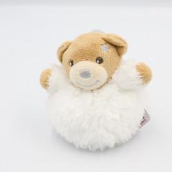 Mini Doudou ours blanc Fur fourrure étoile KALOO