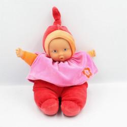 Doudou bébé poupée Baby Pouce rouge rose COROLLE 2007