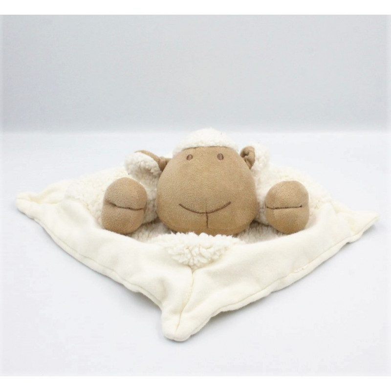 Doudou plat mouton blanc NATURE ET DECOUVERTE
