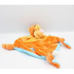 Doudou plat noeuds tigrou orange jaune bleu Disney Baby