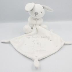 Doudou lapin blanc gris mouchoir Sweet Baby Dreams SIMBA TOYS KIABI
