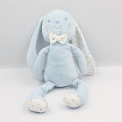 Doudou lapin bleu blanc étoiles TEX BABY