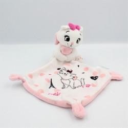 Doudou plat chat blanc rose Les Aristochats mouchoir Cutie marie In Paris DISNEY