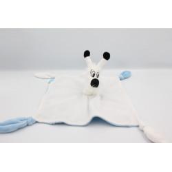 Doudou plat chien blanc bleu Idéfix Parc ASTERIX