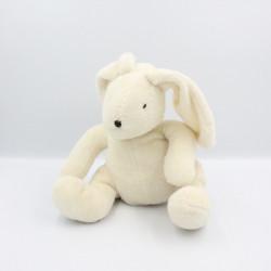 Doudou lapin blanc DPAM Du Pareil Au Même