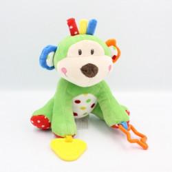 Doudou singe vert bleu jaune rouge pois EARLY DAYS