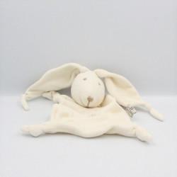 Doudou plat lapin blanc LES PETITES MARIE