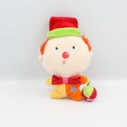 Doudou clown rouge jaune...