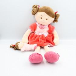 Doudou et compagnie poupée fille rose rouge pois Les Demoiselles Gourmandise