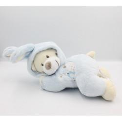 Doudou musical ours déguisé en lapin bleu BABY AUCHAN