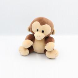 Doudou singe marron beige TY